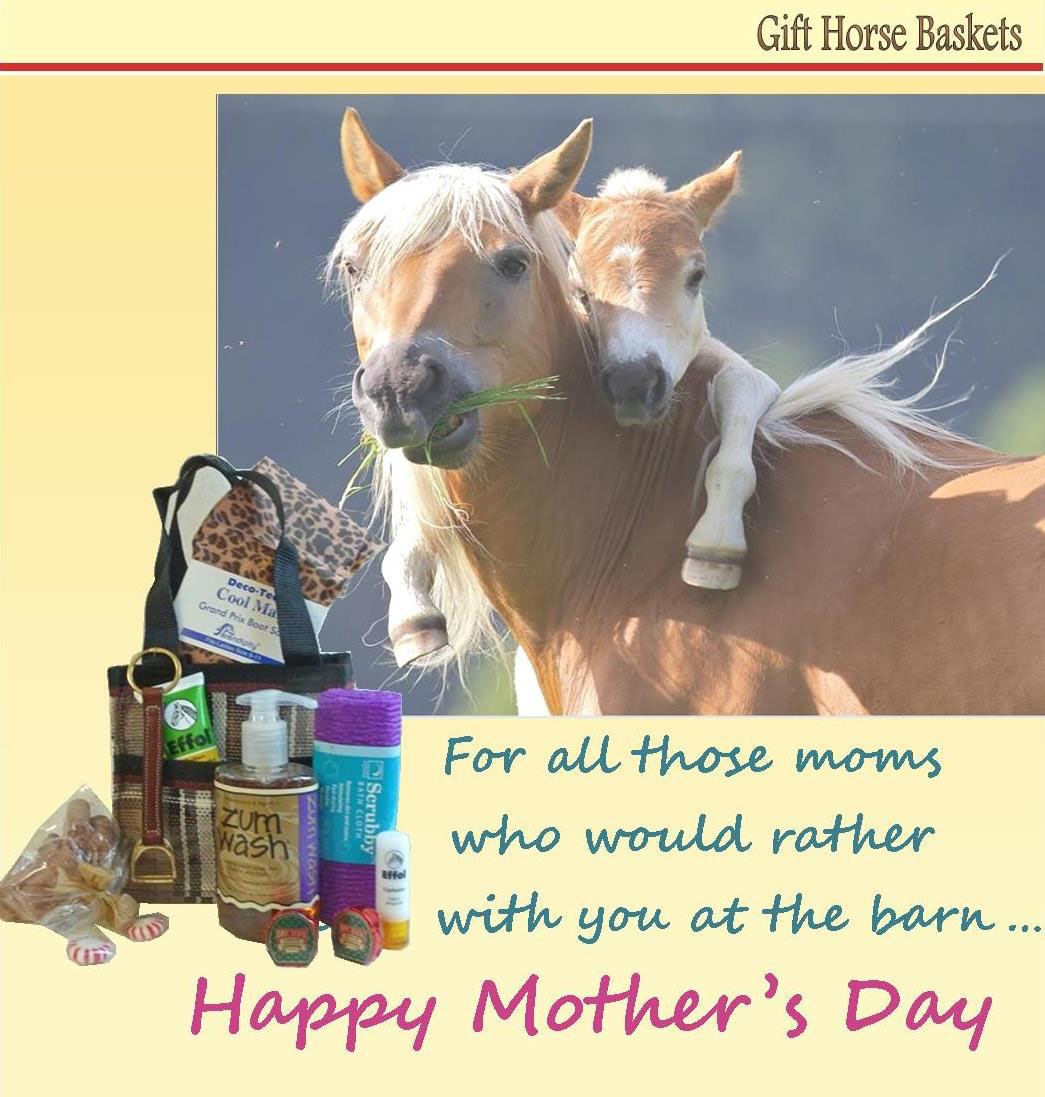 Gift horse baskets gift baskets with the best tools and products mothers day riders reward web negle Gallery