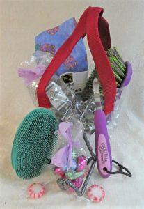 Spring treat in web basket